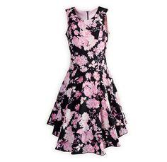 638d09fa760 Floral Fashion Tween Girl s Drop-Waist Dress Tween Dresses For Dances