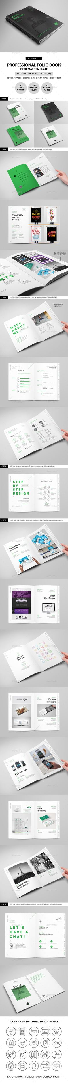Stellar Portfolio - 32 Pages Booklet Template available for purchase on GraphicRiver