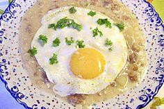 Buttermilchsuppe mit Speck und Zwiebeln auf pommersche Art