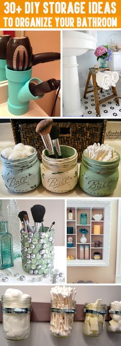 30+ DIY Storage Ideas To Organize your Bathroom (Diy Makeup)