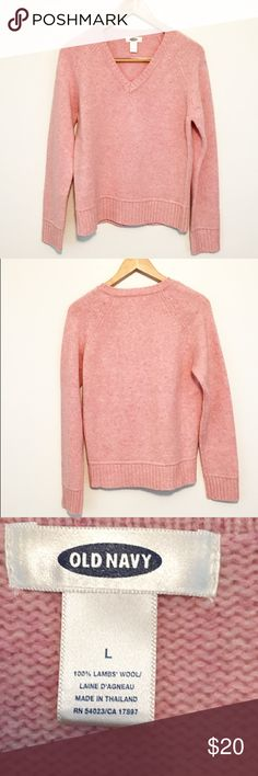 Old Navy  Pink Rose Sweater Pretty pinky rose sweater. Long sleeve with v neck Old Navy Sweaters