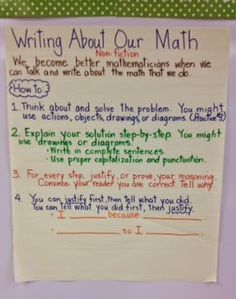 Growing Grade by Grade: Writing About Our Math