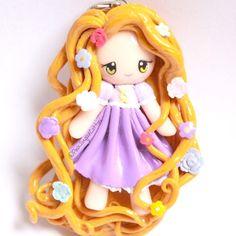 Rapunzel Chibi Polymer Clay Charm Tangled by PinkSugarCotton88