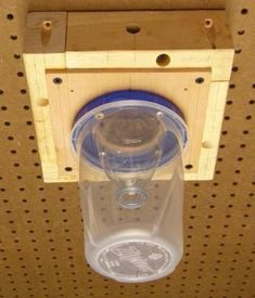 DIY - Carpenter Bee Trap ~ These traps work great!!  Once one bee is caught .... when dying sends off a scent that will attract other carpenter bees.   These carpenter bees are so destructive to your home and wood decks, wood structures!  Set these traps in full sun and move around often to other places in your yard.