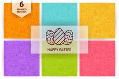 Happy Easter Line Seamless Patterns ~ Patterns on Creative Market