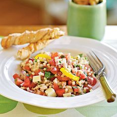 Peppery Monterey Jack Pasta Salad  Acini di pepe are tiny pasta rounds resembling peppercorns. Use ditalini (very short tube-shaped macaroni) or any other small pasta shape if you can't find acini di pepe.