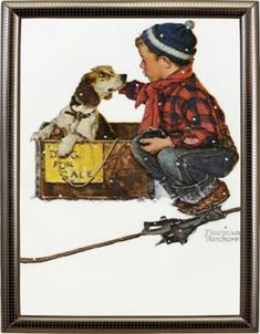 Norman Rockwell WinterFrom 1958 The Saturday Evening Post Norman Rockwell Prints, Norman Rockwell Paintings, Peintures Norman Rockwell, Saturday Evening Post, Post Animal, Dog Poster, Impressionism Art, Illustration Artists, Mixed Media Canvas