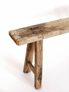 RUSTIC CHINESE ELM WOOD BENCH - Celestial - CELESTIAL - Sourced from artists in Europe, Asia and Africa, these limited edition pieces inspire a life of simplicity and style. Antique Bench, Vintage Bench, How To Antique Wood, Rustic Wood Bench, Weathered Wood, Barn Wood, Reclaimed Wood Benches, Rustic Stools, Rustic Decor