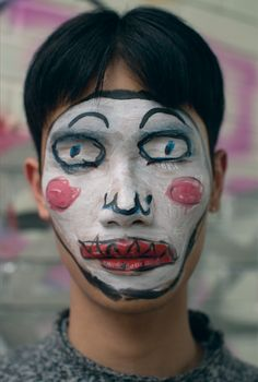Makeup Artist and Illustration Isamaya Ffrench, make up mask