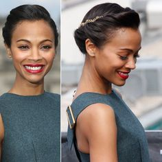 I'm a tad obsessed with Zoe Saldana (obviously) but this is such a cute and classy updo