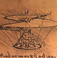 Design for a helicopter - Leonardo da Vinci
