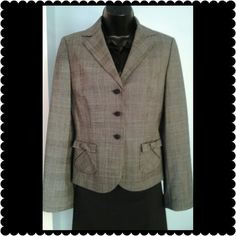 """Ann Taylor Blazer Black and white lined blazer. Beautiful style for this Ann Taylor blazer . The pockets have all the details that you need. A perfect blazer for work or play. Measures 22"""" long. Ann Taylor Jackets & Coats Blazers"""