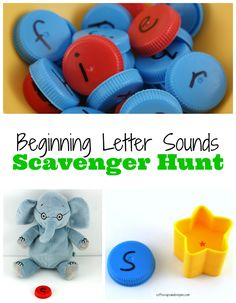 A letter scavenger hunt is such a fun way to work on letter recognition and letter sounds.