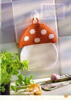 Kira scheme crochet: Scheme crochet no. Crochet Potholders, Crochet Motif, Knit Crochet, Crochet Patterns, Crochet Fruit, Crochet Flowers, Crochet Home Decor, Crochet Crafts, Crochet Decoration