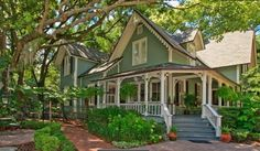 small house wrap around porch   Great wrap around porch and details, I am not crazy about the color ...