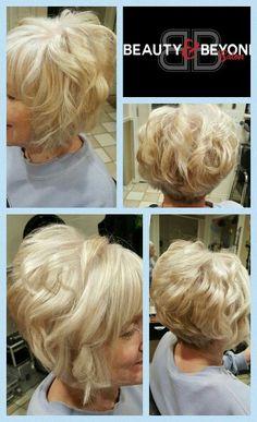 Kenra 10SM silver metallic width an A-line haircut