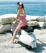 Red vespa girl scooters with photos 14
