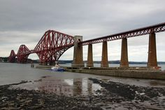 The Forth Bridge is a cantilever railway bridge completed in 1890 and our gate out of Edinburgh to the Highlands ! See next board.