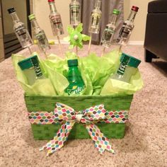 Booze bouquet with mixers!!!