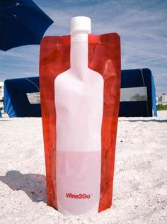 The collapsible wine bottle
