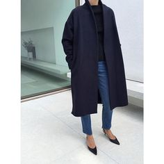 A new shipment of the navy Chelsea Coat just arrived. Get yours at toteme-nyc.com #toteme