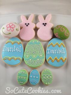 Easter egg cookies and Peeps