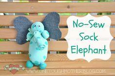Summer Fun Camp - DIY No-Sew Sock Elephant - Sweet Tea & Saving Grace