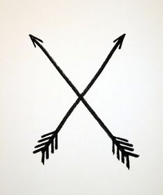 In Native American culture, the crossed arrows meant friendship, I like this one!!