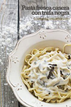 Home made pasta with truffles - Pasta fresca con trufas