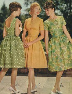 60sfashionandbeauty: Summer dresses in Spiegel catalog, 1963. (♥)