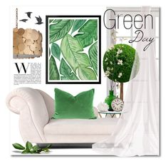 """""""Green Day"""" by miee0105 ❤ liked on Polyvore featuring interior, interiors, interior design, home, home decor, interior decorating, Pier 1 Imports, Kathryn McCoy Design, Arteriors and Jayson Home"""