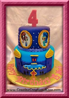 Shimmer and Shine birthday cake - Cousin's Creations in Kalamazoo, MI