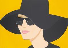 Alex Katz, Ulla in Black Hat, Screenprint in color 40 x 28.5 in, 2010