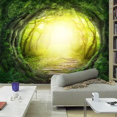 Find More Wallpapers Information about 1x3m 3d wallpaper children's room backdrop mural fresco seamless stereoscopic fairy green channel tunnel non woven home decor,High Quality wallpaper style,China wallpaper hot Suppliers, Cheap wallpaper line from Miss CZ home decor on Aliexpress.com