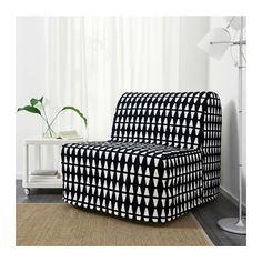 LYCKSELE MURBO Chair-bed - Ebbarp black/white, - - IKEA