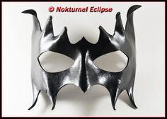 Black Leather Mask Mardi Gras Masquerade Ball Party Villain Super Hero Halloween Fantasy Renaissance Costume UNISEX. $39.99, via Etsy.