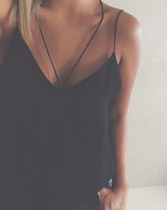 #summer #fashion / strappy black top