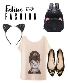 """""""Feline"""" by lauren129986 ❤ liked on Polyvore featuring Kate Spade and Cara"""