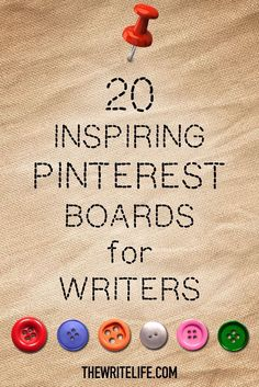 20 Inspiring Pinterest Boards for Writers. All the visual inspiration a writer could need.