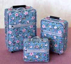 Dollhouse Miniature 3 pc Roller Luggage Set  by WhimsyCottageMinis, $120.00
