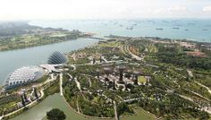 Aerial View Of Gardens By The Bay In Singapore Which Won The  Thea Award