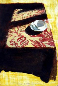 Susan Ashworth - White Cup and Damask