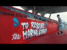 Heineken Uses Graffiti To Help Restore Abandoned Stadium - http://www.psfk.com/2016/09/heineken-uses-graffiti-restore-abandoned-stadium.html