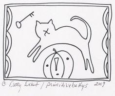 "Free ""Black Cat & Jack"" pattern from Betty DeKat."