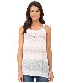 DKNY Jeans Printed Lace Tank Top. Very cute/pretty. Something I would probably wear a lot. I like the shoulders cut in a little.