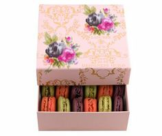 beautiful box of french macarons