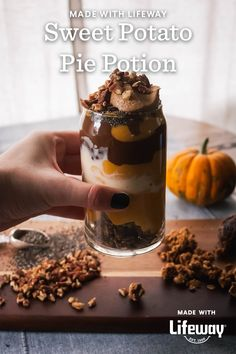 We're brewing a magical Sweet Potato Pie Potion for this evening's All Hallow's Eve festivities. Potato Pie, Sweet Potato, Healthy Fiber, Farmers Cheese, Plant Based Protein, Kefir, Original Recipe, Melting Chocolate, Granola
