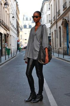 Paris Who: Melodie What: Model, 19 Wear: Alexander Wang top, Zara pants, H shoes   Read more: Global Street Style - Discover More Street Style  Follow us: @ElleMagazine on Twitter | ellemagazine on Facebook  Visit us at ELLE.com