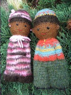 Felted comfort doll - Crochet Me