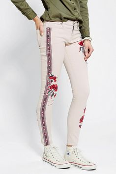 BDG Embroidered Twig Mid-Rise Jean #urbanoutfitters